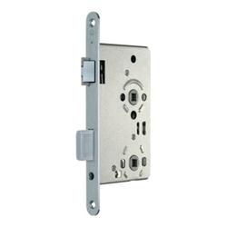 SSF Zimmertür-Einsteckschloss BAD 20/ 55/78/8mm DIN L VA rd Kl 3