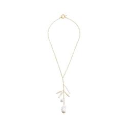 Gemshine Perlenkette Barock und Keshi Perlen, Made in Germany goldfarben