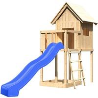 Akubi Spielhaus Frieda Set A mit Rutsche blau 91176
