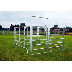 Pony Panel Box Set: 3 Panele + 1 Panel m. Tor, 2,40 x 2,40 m breit
