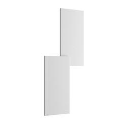 Puzzle Outdoor Double Rectangle Wandleuchte - Matt Weiß
