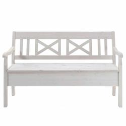 Sitzbank in Weiß Kiefer massiv