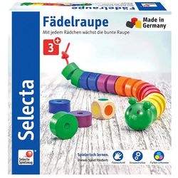 Selecta Spiel, Fädelraupe, aus Holz, Made in Germany