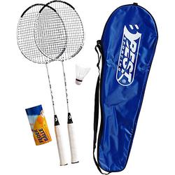 Badminton-Set 200 XT blau/weiß