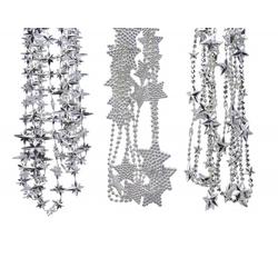 Perlenkette MIX STARS silber
