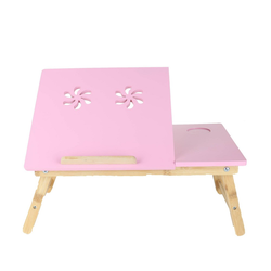 Coolpad Flip Top Adjustable Laptop Desk for Bed Tray Pink - Mind Reader