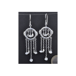 Adelia´s Paar Ohrhänger Mondstein Ohrschmuck Mond