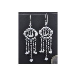 Adelia´s Paar Ohrhänger Mondstein Ohrschmuck / Ohrhänger - Mond