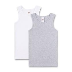 s.Oliver Unterhemd Jungen Unterhemd 2er Pack - Shirt ohne Arme, bunt 140