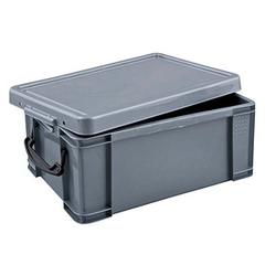 Really Useful Box Aufbewahrungsbox 9,0 l silber 39,5 x 25,5 x 15,5 cm