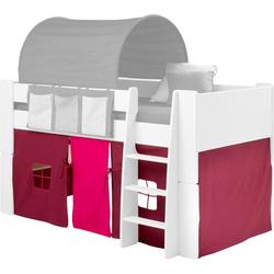 Vorhang FOR KIDS, STEENS, Bindebänder (3 Stück), für die Halbhochbetten rosa