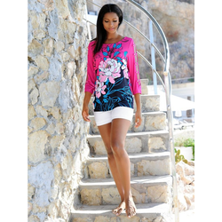 Alba Moda Strandshirt mit halboffenem Arm 40
