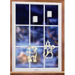 Polarlite LBA-50-008 LED-Fensterbild Rentier LED Transparent