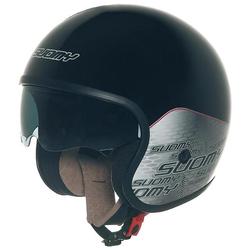 Suomy 70's Home Jet helm zwart, zwart-grijs, S