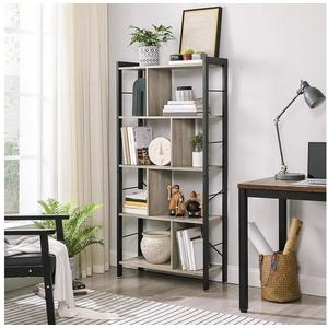 VASAGLE Bücherregal LBC12BX, Büroregal, Standregal, Wohnzimmer, Arbeitszimmer grau