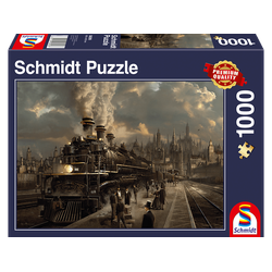 SCHMIDT SPIELE (UE) Lokomotive 1.000 Teile Puzzle Mehrfarbig