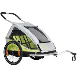 XLC Fahrradkinderanhänger DUO grün