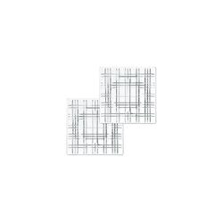 Nachtmann Servierplatte Square Geschirr Platte 21 cm klar quadratisch 2er, Glas, (2-tlg)