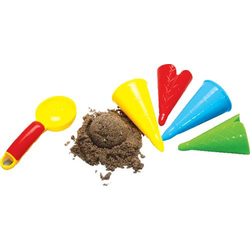 Sandform Eiscreme, 5 i. Netz