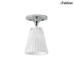 Fabbian FLOW Deckenleuchte 1XG9 Kristallglas weiß FABB-D87E0101
