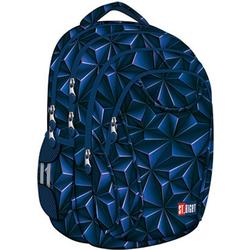 St.Right Schulrucksack Schulrucksack Rucksack für Schule Oberstufe 24 l 3D Jungen Herren 4 Fächer blau