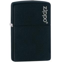 Zippo Black matte mit Logo 60001203