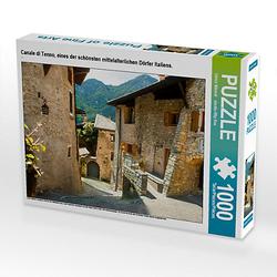 Canale di Tenno, eines der schönsten mittelalterlichen Dörfer Italiens. Lege-Größe 64 x 48 cm Foto-Puzzle Bild von studio-fifty-five Puzzle
