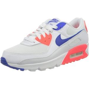 Nike Damen W AIR MAX 90 Laufschuh, White/Racer Blue-Flash Crimson, 42 EU