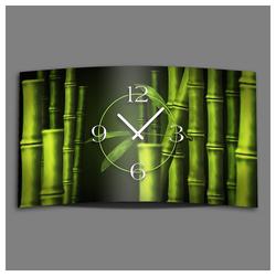 dixtime Wanduhr Bambus Designer Wanduhr modernes Wanduhren Design (Einzigartige 3D-Optik aus 4mm Alu-Dibond)