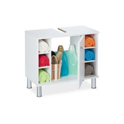 relaxdays Waschbeckenunterschrank Waschbeckenunterschrank weiß