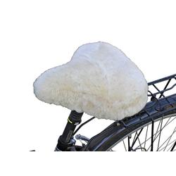 Fahrradsattelbezug Lammfell Cruiser weiß