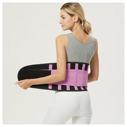 kueatily Bauchweggürtel Bauchweggurtel Sportgürtel, farbiger Taillenschutz, Bandscheibenfixierung Kraftvolles Dehnen und Verriegeln der Taille, doppeltes Gummibanddesign lila S