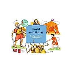 David und Goliat. Spielfiguren für die Erzählschiene