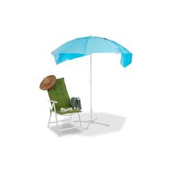 relaxdays Strandmuschel Sonnenschirm Strandmuschel 2 in 1
