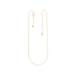 Gemshine Perlenkette Brillenkette für Sonnenbrille, Lesebrille - Rosenquarz, Made in Germany