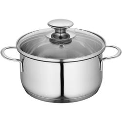 Küchenprofi Mini Kochtopf, Küchentopf inklusive Glasdeckel mit Dampfloch, für energiesparendes Sichtgaren, Volumen: 1,25 Liter