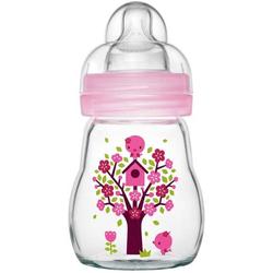 MAM Feel Good - Babyflasche aus Glas 170ml rosa
