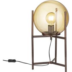 WOFI Ronda 8539.01.09.8000 Tischlampe LED E27 40W Braun