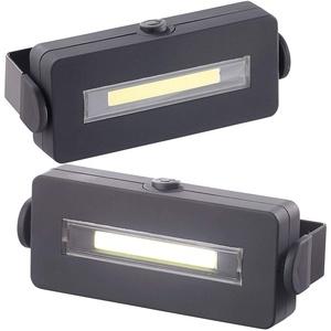 Lunartec LED Arbeitslampe: 2er Pack Schwenkbare Arbeitsleuchte mit COB-LED, 3 W, 100 lm, Magnet, (LED-Arbeitsleuchte Batterie)