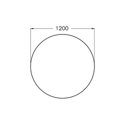 Bodenplatte aus Sicherheitsglas 6 mm - Ø 1.200 mm mit Facette 15 mm - für Kaminofen
