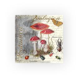 Ambiente Papierserviette Fliegenpilze und Käfer, (5 St), 33 cm x 33 cm