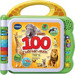 Vtech Buch Mein 100-Wörter-Buch: Tiere, grün, mit Licht und Sound grün Kinder Bücher Bücher,Filme Musik