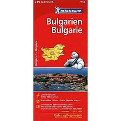 Michelin Karte Bulgarien; Bulgarie - Buch