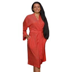 Bademantel, Lashuma, - der leichte Bademantel für Frauen rot M