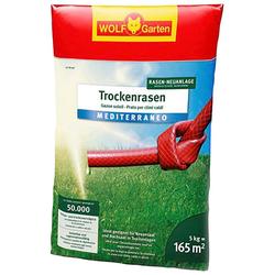 WOLF-Garten Rasensamen LU-TR 165 Trockenrasen MEDITERRANEO, 5 kg