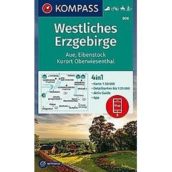 KOMPASS Wanderkarte Westliches Erzgebirge  Aue  Eibenstock  Kurort Oberwiesenthal - Buch
