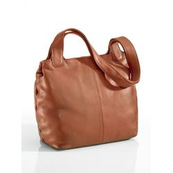 Avena Damen Leder-Shopper Easy Going Braun 1