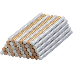 50 Klebesticks für Heißklebepistolen, 11 x 200 mm, golden & silbern