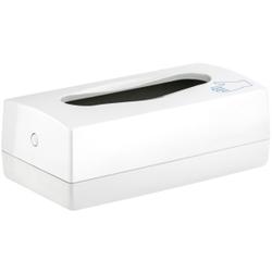 racon® glove Spender für Einweghandschuhe, Kunststoff, weiß, für Einweghandschuhe, H 140 mm, B 270 mm, T 90 mm