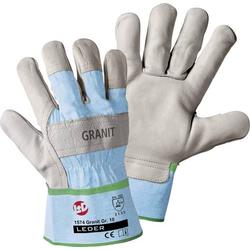 Worky L+D Granit 1574 Rindnarbenleder Arbeitshandschuh Größe (Handschuhe): 10, XL EN 388:2016 CAT